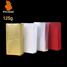 1/4 Pound Granule Powder Coffee Tea Food Storage Bag 125 G Air Foil Heat Up Side Gusset Back Open Top Seal Four Side Stand Valve