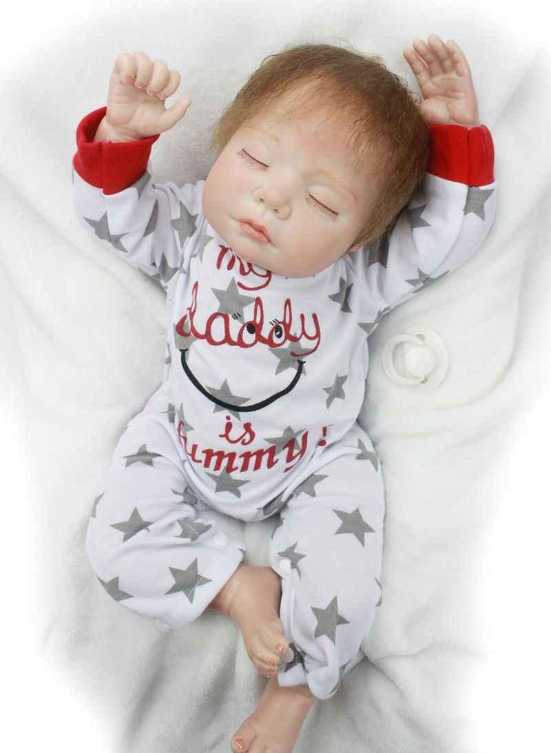 Muñeca Reborn realista de silicona suave bebés Reborn Niño/niña 22 pulgadas/55 cm Adorable Bebe niños Brinquedos boneca juguete