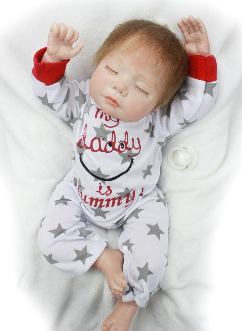 Reborn bébé poupée réaliste silicone souple Reborn bébés garçon/fille 22 pouces/55 cm Adorable Bebe enfants Brinquedos boneca jouet