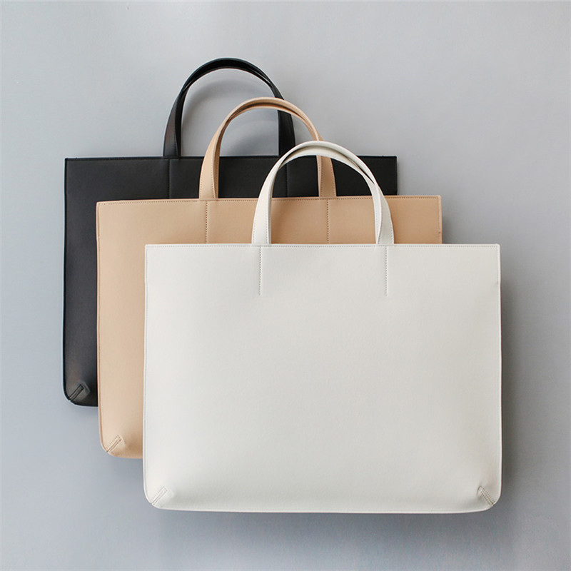GZL Women handbags PU leather business briefcase shoulder bags tote female  notebook laptop bag fashion casual black white HB0006 e1ffb7489fba0