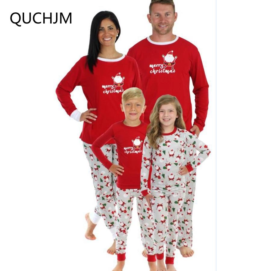 XMAS Family Matching Christmas Pajamas Set Women Men Kid Sleepwear Nightwear Lot