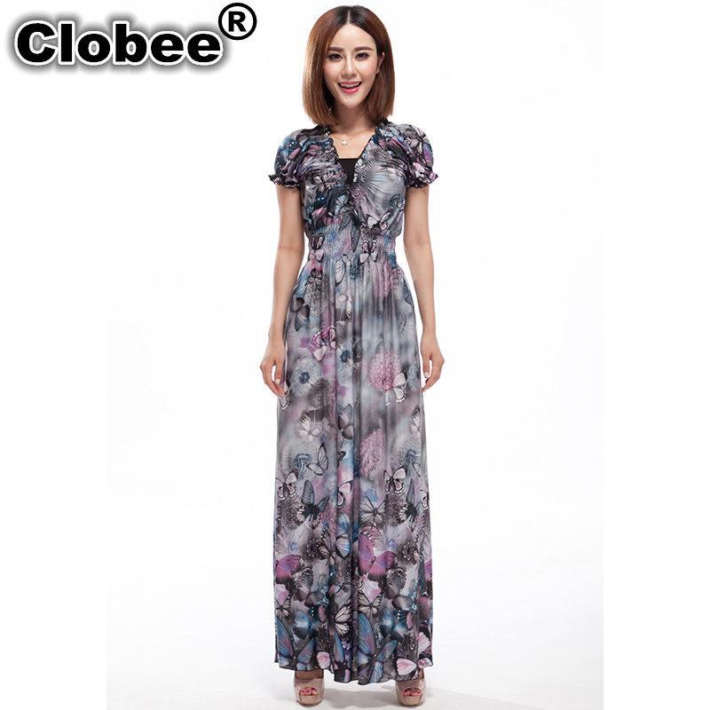 Online Get Cheap Butterfly Maxi Dresses in Us Plus Size ...