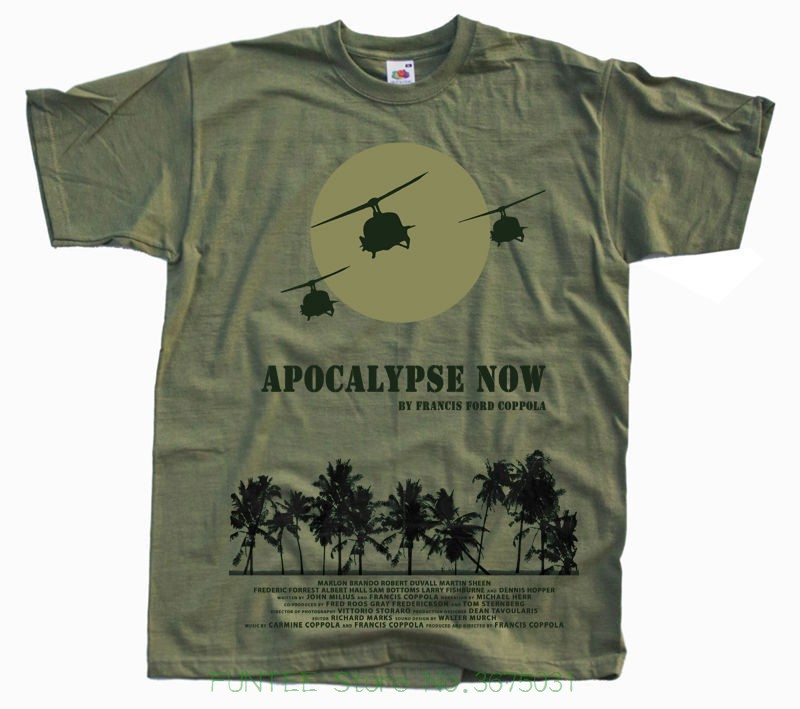 100% Cotton Short Sleeves Tee   Shirts   Apocalypse Now Poste   T     Shirt   Olive All Sizes S To 5xl V22