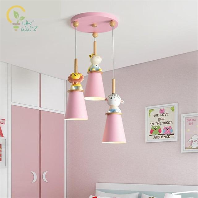 US $104.16 7% OFF Nordic Bedroom Led Ceiling Lights Modern Children Room  Ceiling Lamp Creative Girl Cartoon Cute Animal Child Lamp Home Lighting-in  ...