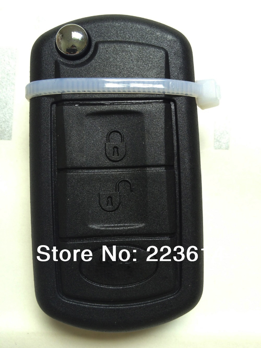 new black 3 button remote key shell for land rover discovery3/Range Rover/Land Rover Freelander with uncut blade free shipping