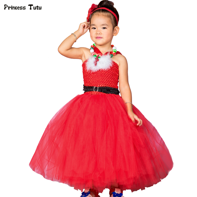 e192149bbefb Red Christmas Dresses for Girls Kids Party New Year Princess Dress Tulle Christmas  Clothes Baby Girl Children Xmas Tutu Dress