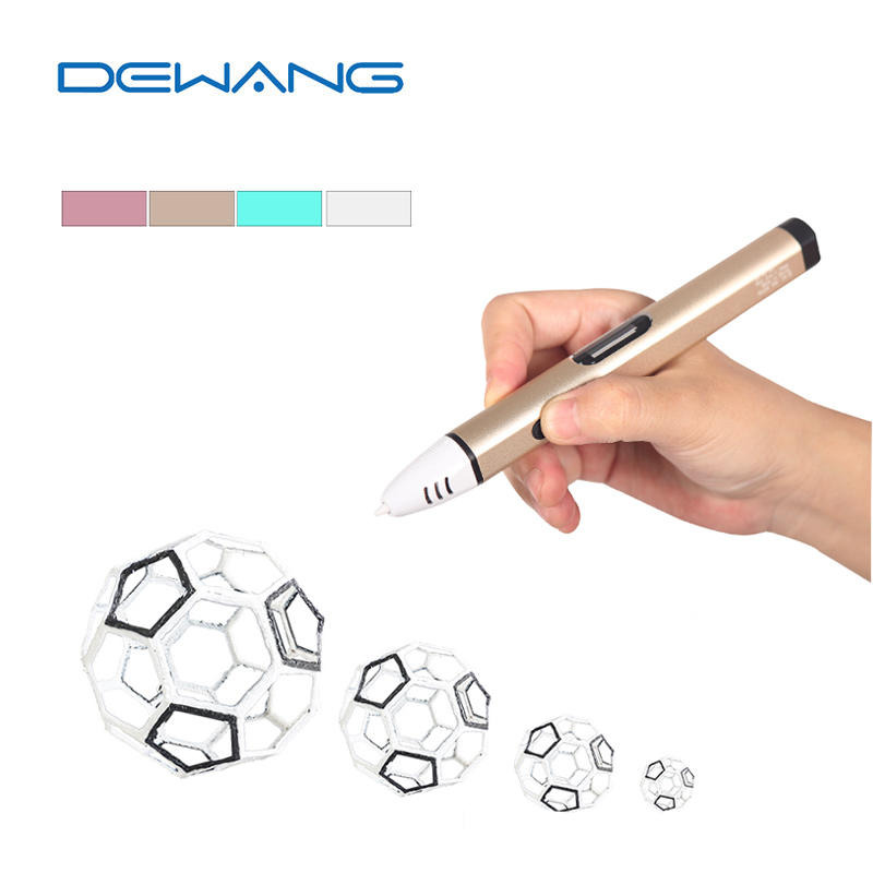 DEWANG 2017 New Generation Colorful 3D Print Pen Kids Gift Fourth Generation 3D Printing Pen Children