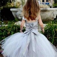 Ellie Bridal Designer Grey First Communion Teen Gril Vintage Ballet Tutu DressCelebrity Formal Pageant Dress