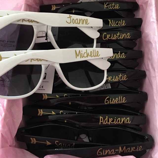 personalize names bride tribe wedding Sunglasses , Bachelorette Birthday Brunch sunglasses, customize Bridesmaid proposal gifts