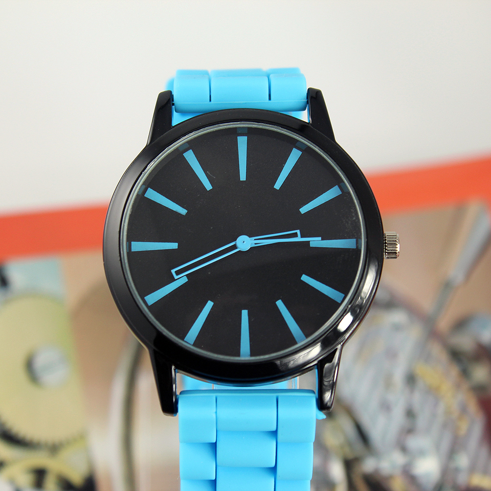 New Fashion 2018 Simple Men Women Quartz Watch BLUE BLACK C1241