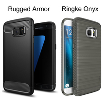 Original SGP Rugged Armor / Ringke Onyx Cases For Samsung Galaxy S7 Edge (5.5″) Military Grade Durable Flexible Soft TPU Cases