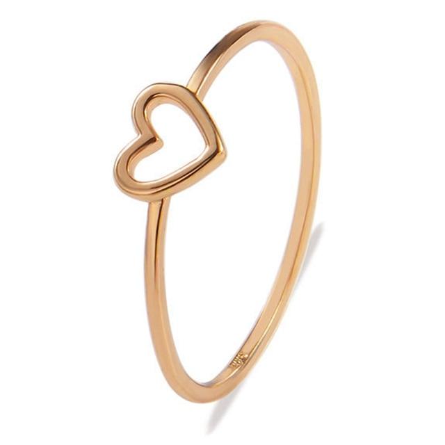 Novo Estilo de Mulheres Anel de Coração Oco Anéis Para Casal Melhor Jóia Do Casamento