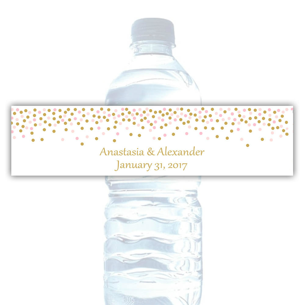 Wedding Water Bottle Labels.Us 9 99 Customized Personalized Wedding Water Bottle Labels Water Bottle Labels Bridal Shower Water Bottle Wrappers Wedding Party In Party Diy