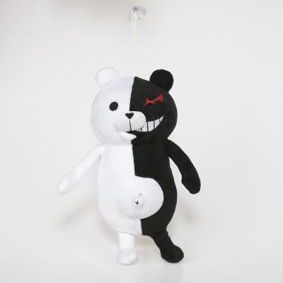 Image 2 - 35cm Plush Toy Accompany Japan Cartoon Super Danganronpa 2 Monokuma Black & White Bear Soft Stuffed Animal Dolls Christmas Gift-in Stuffed & Plush Animals from Toys & Hobbies