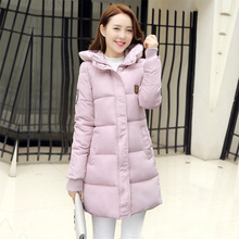 Winter 2016 New Arrival Womens Down Coat Long Version Slim Thickened Female Student Hooded Down Jacket HX4