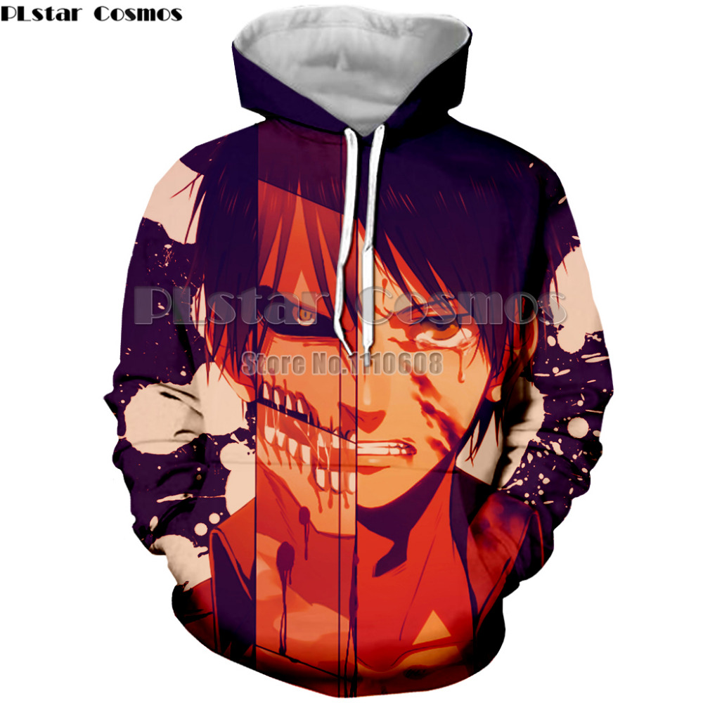 Women men Attack on Titan Cosplay Print Pullover Hoodies Sweatshirts Survey Corps Unisex sweatshirt Hoodies Autumn thin coat