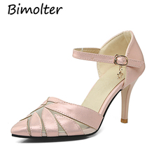Bimolter Summer Women Pumps Elegant Sweet Wedding Shoes Pointed Toe High Thin heels Sexy Fashion Party Female Shoes PXEA001 fashion sweet women 10cm high heels pumps female sexy pointed toe black red stiletto high heels lady pink green shoes ds a0295