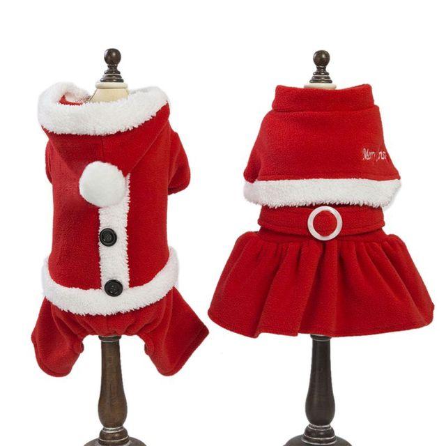 Cane di animale domestico Divertente Di Natale Costume Caldo di Babbo natale Cos