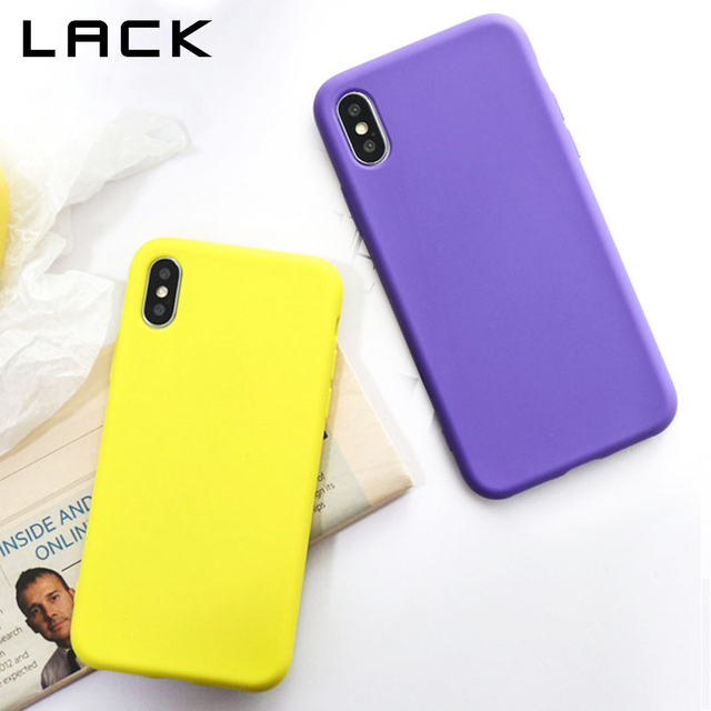 LACK Fashion Solid Color Phone Case For iphone X Case For iphone 7 6S 6 8 Plus Vintage Purple Yellow Back Cover Soft Cases Capa