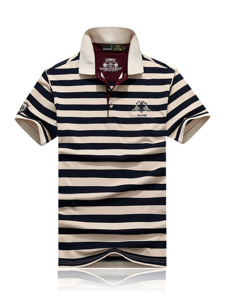 Polo Shirts Men Fashion Brand Striped Cotton Polos Slim Fit Summer Short Sleeves Male Casual Shirts Top Quality Plus Size 3XL (3)