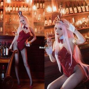 Image 3 - Niestandardowy hot japanese Anime DARLING in the FRANXX przebranie na karnawał Zero dwa kostium króliczka przebranie na karnawał 02 Sexy kobiety kombinezon czerwona skóra garnitur