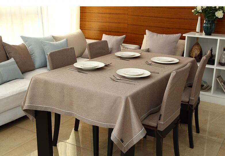 Western moderne minimaliste solide couleur nappe café nappe plaid mode nappe personnaliser accepter