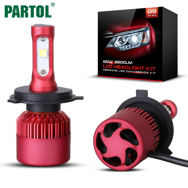 G9 Partol H4 Car LED Headlight Bulbs 80W 9600LM XHP50 Chips All in one LED H7 H11 Headlamp Fog Lamp 6500K for Toyota Honda