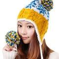 Invierno bombardero sombreros moda otoño caliente de Kawaii Handwear punto de la mujer sombrero Cap tocado calentador del oído protectores de calidad superior M0337