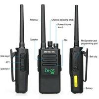 ווקי טוקי 2pcs צריכת חשמל גבוהה DMR רדיו דיגיטלי IP67 Waterproof מכשיר הקשר Retevis RT50 תצוגה UHF VOX Portable 2 Way רדיו ווקי טוקי (4)