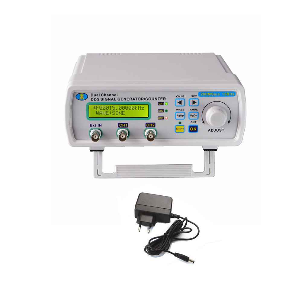 New MHS5200A 25MHz Digital DDS Dual-channel Signal Source Generator Arbitrary Waveform Frequency Meter 200MSa/s 180*190*72mm original hantek1025g pc usb function arbitrary waveform generator 25mhz arb wave 200msa s dds usbxitm interface hantek 1025g