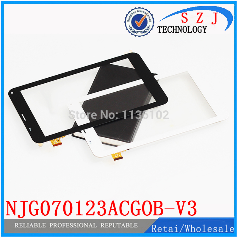 New 7'' inch touch screen panel digitizer glass replacement NJG070123ACGOB-V3 for Cube U51GT Talk 7x Tablet Free Shipping 10Pcs for new mglctp 701271 yj371fpc v1 replacement touch screen digitizer glass 7 inch black white free shipping