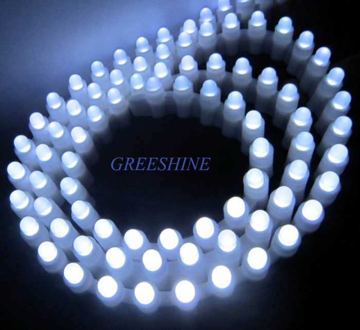 99Leds/99CM Non waterproof Silicon Tube Waterproof  Auto Car LED Light Strip Side View Dip 5MM Round Chip 5meter/lot