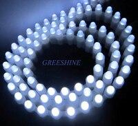 99 Leds/99 CM Olmayan su geçirmez Silikon Tüp Su Geçirmez Oto Araba LED Işık Şeridi Yan Görünüm Dip 5 MM yuvarlak Çip 5 metre/grup