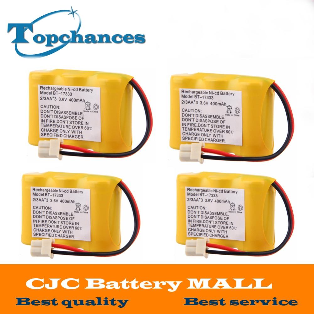 4 pcs High Quality Battery For Vtech BT-17333 BT-27333 Battery For CS2111 CS5111 CS5121 Home Cordless Phone free shipping