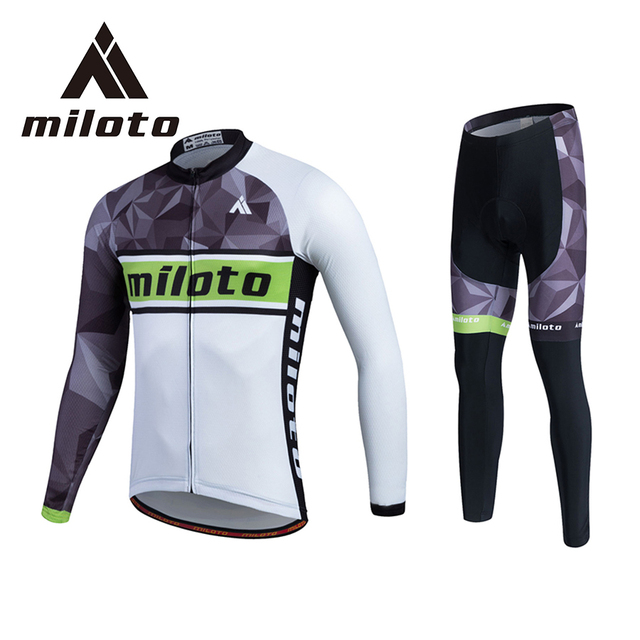 e484639e9 MILOTO Spring Breathable Cycling Jersey Long Bicycle Jersey Tights 3D  Silicon Gel Paded Mens Cycling Clothing Ropa Ciclismo 5XL