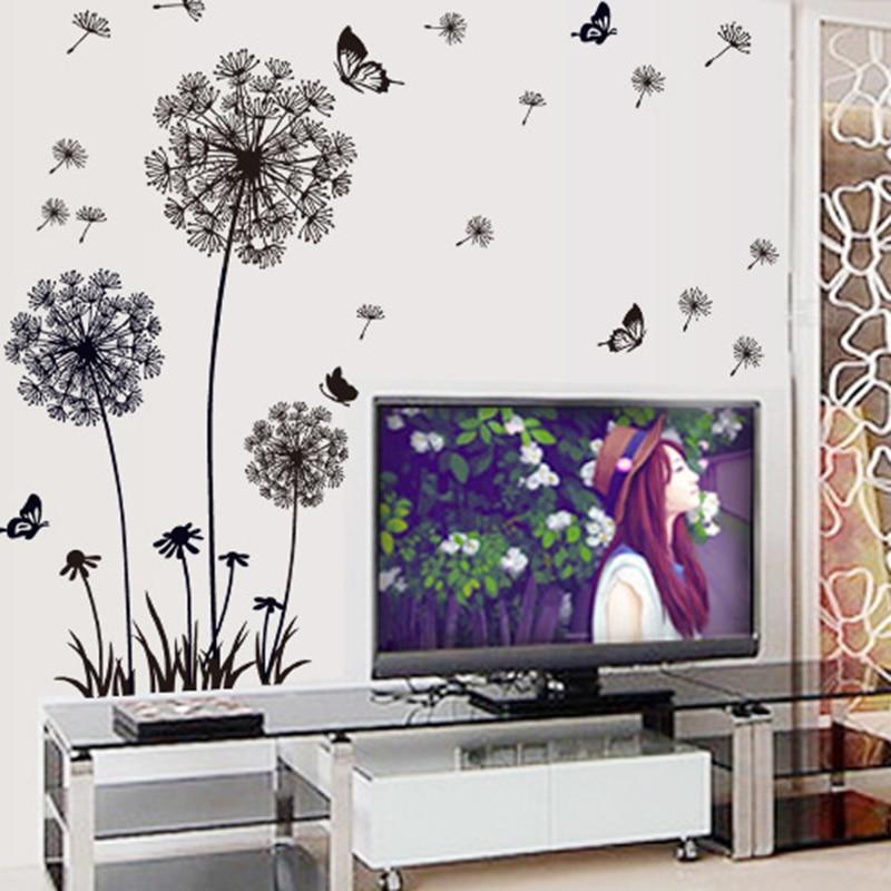 Dandelion Wall Sticker Removable Vinyl Decal Home Living Room Office DIY Decor