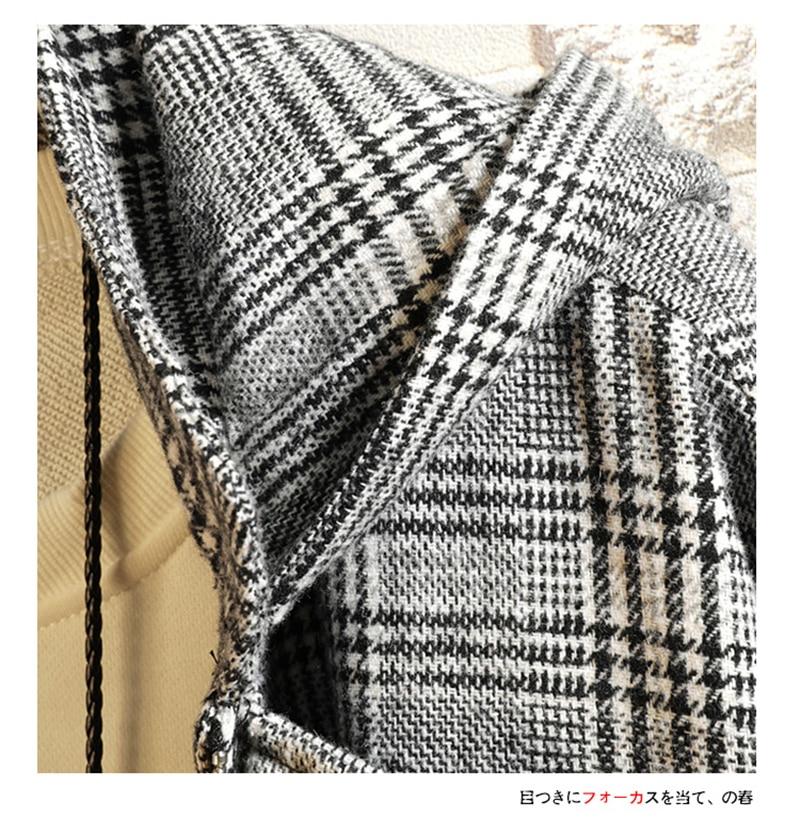 Male Long Coat Oversize Lapel Button Sobretodos Hombre Overcoat Streetwear (46)