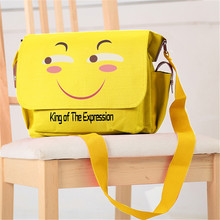 New Hot Emoji Schoolbag Kawaii Smiling Face King of the Expression Print School Laptop Shoulder Bag Rucksack Mochila Feminina