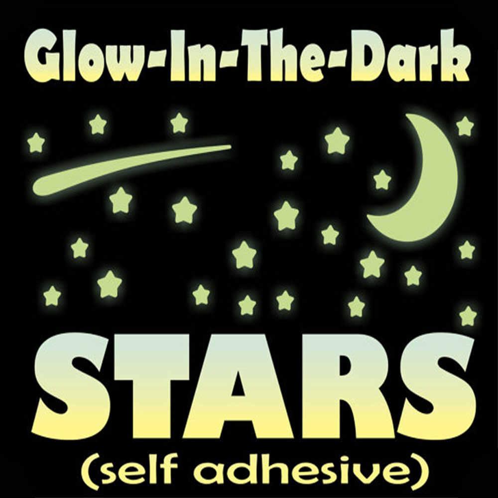 Небесно-Звезда Луна Светящиеся Настенные наклейки люминесцентные наклейка творческий ИСКУССТВА настенной росписи Съемный Фон ночь светящиеся обои