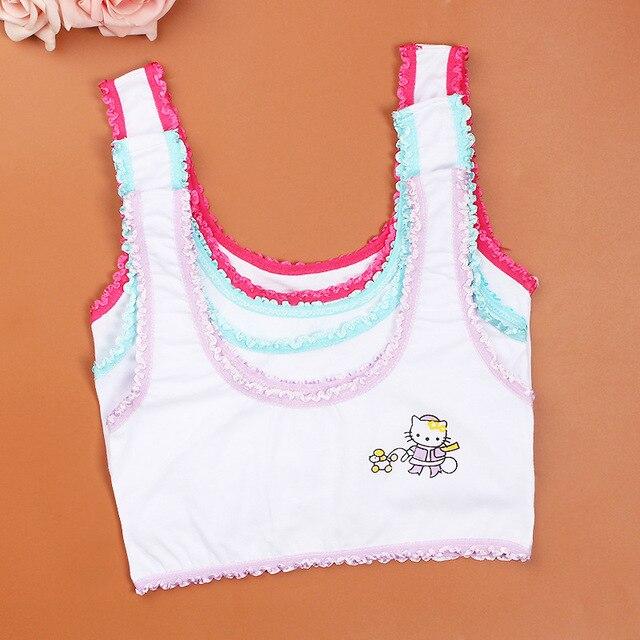 aa08b498ffbdf 5 cotton young girls training bra 10-15 years old children bras Condole  belt vest kids bra camisole for child