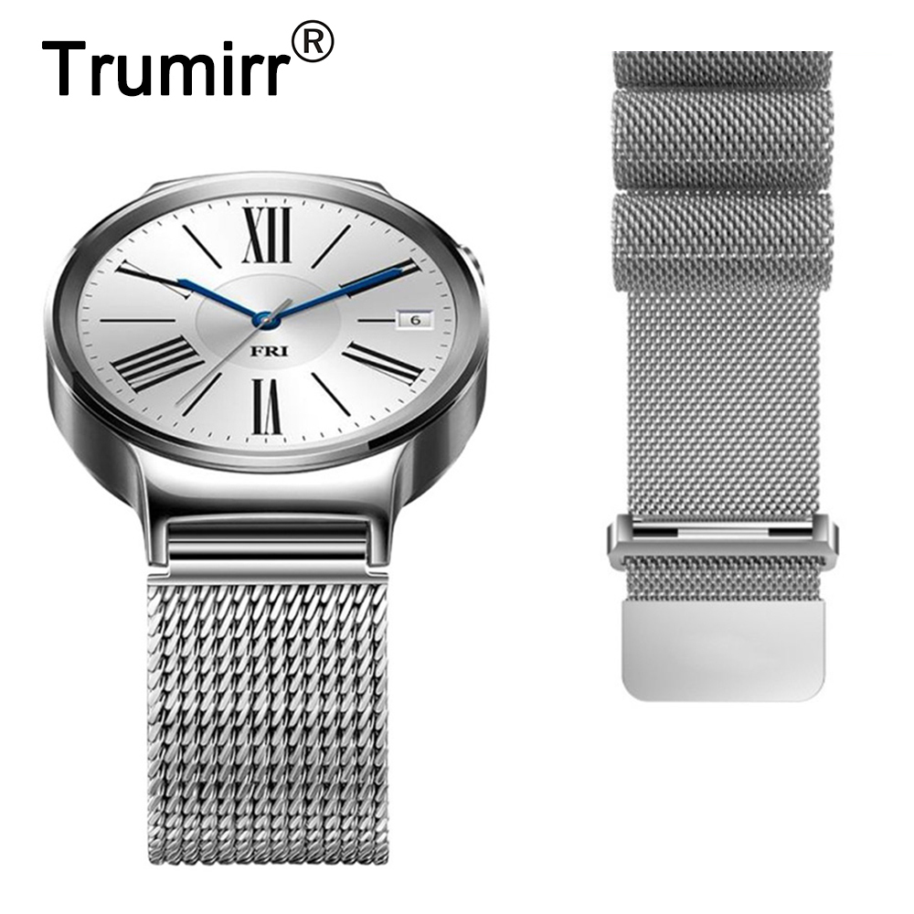 18mm Milanese Loop Strap for Asus ZenWatch 2 Women WI502Q Huawei Watch / Fit Honor S1 Stainless Steel Band Magnet Clasp Bracelet new best price milanese magnetic loop stainless steel band strap bracelet for huawei honor 3 smart watch drop shipping jan8