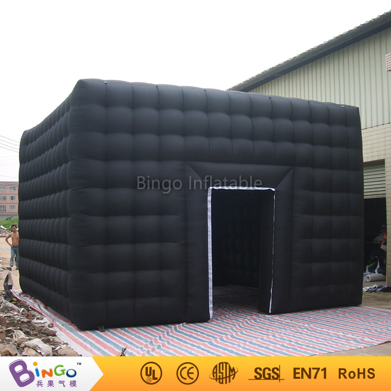 Free Delivery Outdoor black color 6x6x4 meters inflatable cube room booth tent hot sale airblown tent for events toy tent free shipping inflatable house shaped cube tent with window for events toy tent