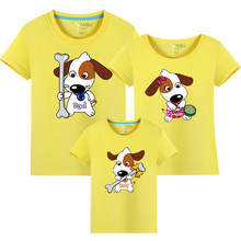 цена на Family Clothing Summer style Matching Mother Daughter Clothes Cotton Father Son T-shirt mommy and me clothes Family Look outfits