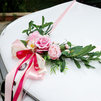 2019 Wedding Car Decoration Silk Flowers Garland Multi color Chair Roses Artificial Flowers Wedding Centerpieces Wreath