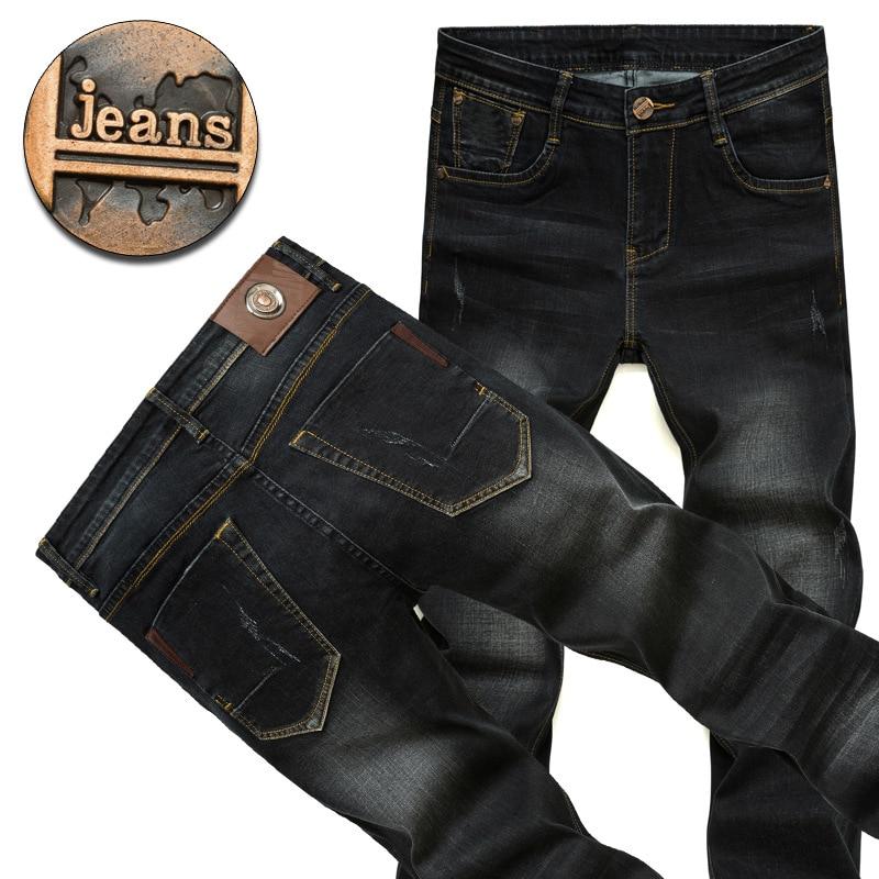 Mens Jeans High Quality Soft Comfort Cotton Wash Black Stretch Denim Jeans Pants Trousers 28 35 36 38 40 42 brand mens jeans high quality men s camouflage straight stretch pants denim trousers size 38 40 jeans for men a989