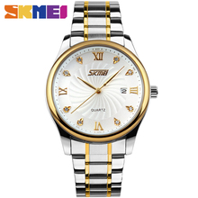 SKMEI 9101 Men Business Quartz Watch Classic Stainless Steel Relogio Masculino Role Watch Men Watches top brand luxury
