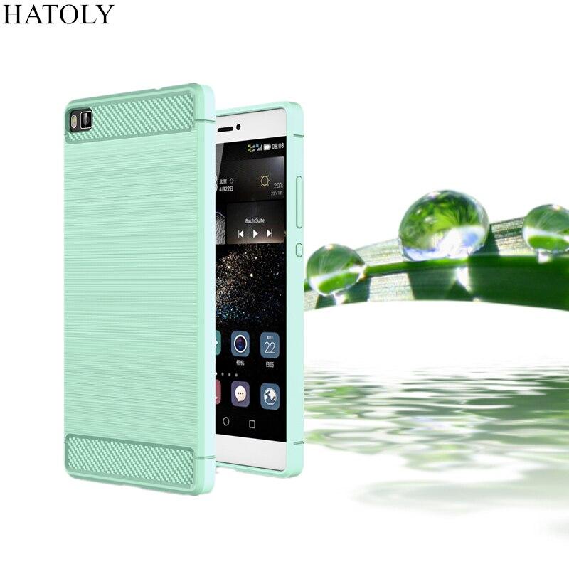 HATOLY Per Capa Huawei p8 Lite Caso Ascend P8 lite Tpu spazzolato Cassa Del Telefono Del Silicone Per Huawei P8 Rugger Lite Caso P8 Mini (