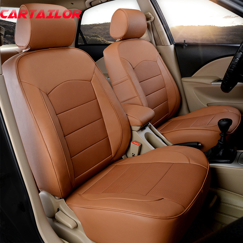 CARTAILOR Leather Seat Covers Cars Accessories for Suzuki Kizashi Car Seat Cover Set Custom Fit Auto Cover Seats Cushion Support