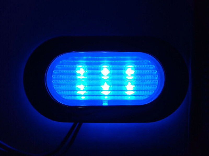 12V Marine Yacht Boat LED Welcome Light Ceiling Lighting Step Lamp White Blue 38mm in Signal Lamp from Automobiles Motorcycles
