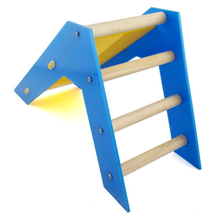 CHIOUPA Parrot Trick Training Sliding Prop,Wood Climbing Ladder and Sliding 2 in 1 Parrot Cockatiel Bird Skill Toys